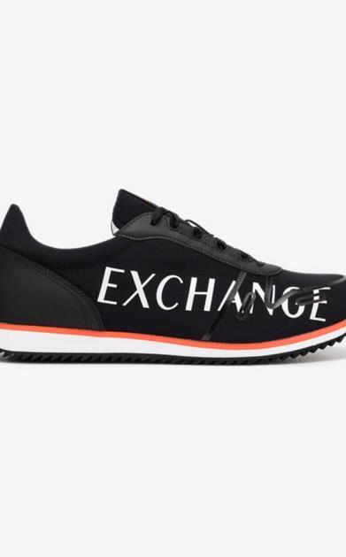 Černé tenisky Armani Exchange