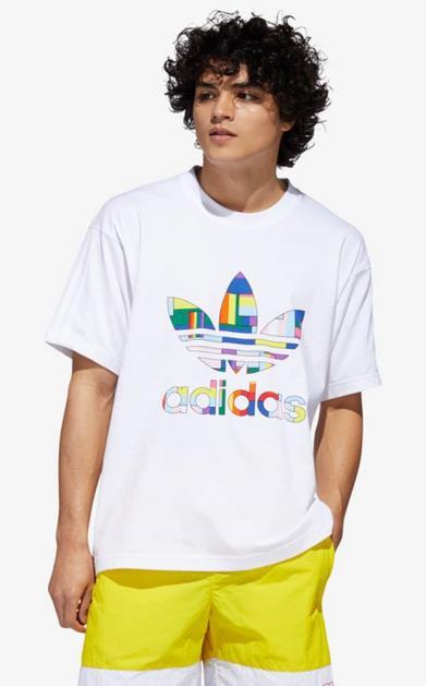 Bílé tričko adidas originals