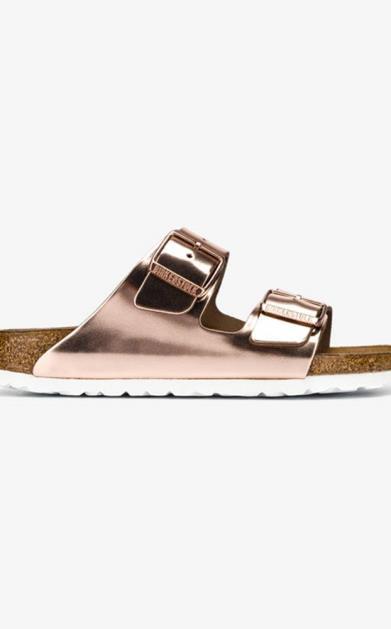 Zlaté pantofle Birkenstock