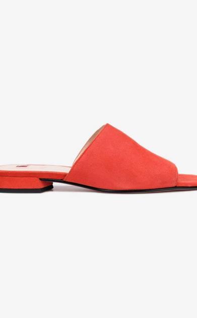 Červené pantofle högl