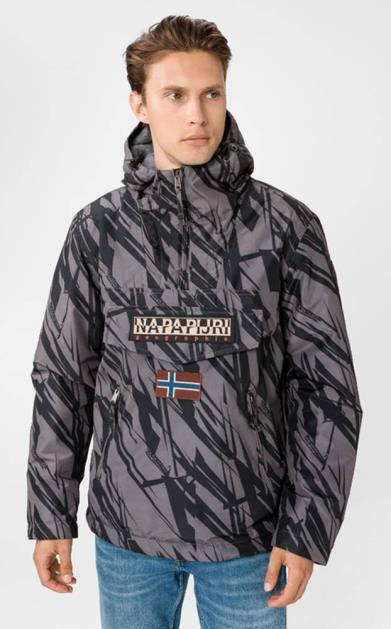 Černě šedá bunda Napapijri