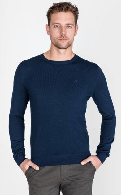 Modrá mikina Trussardi Jeans