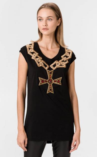 Černý top Dolce & Gabbana