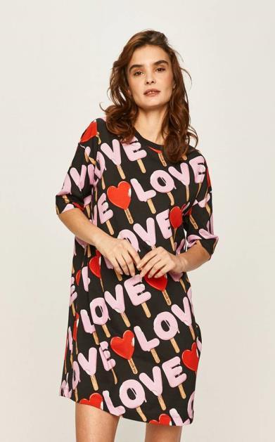 Vícebarevné šaty Love Moschino