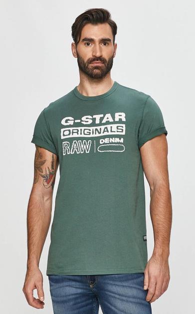 Tyrkysové tričko G-Star RAW