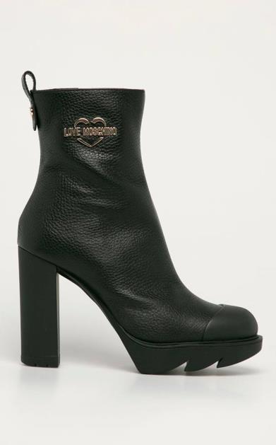 Černé boty Love Moschino