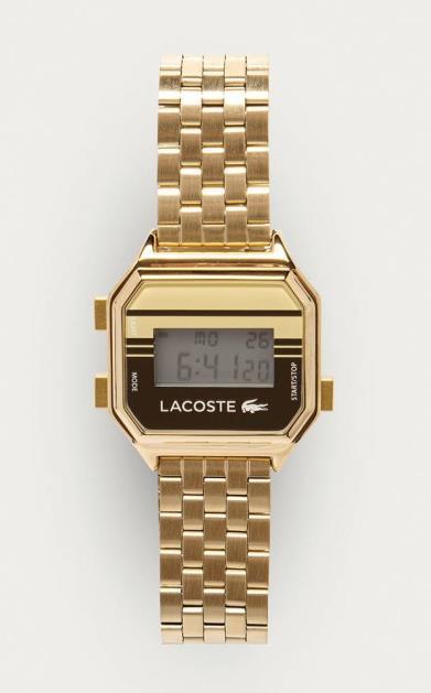 Zlaté hodinky lacoste