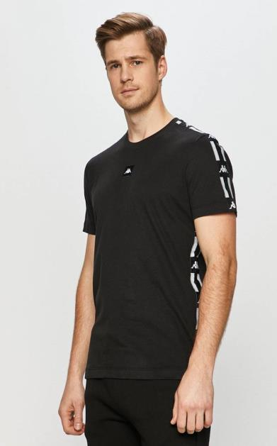 Černé tričko Kappa