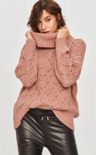 Růžový svetr Answear Lab