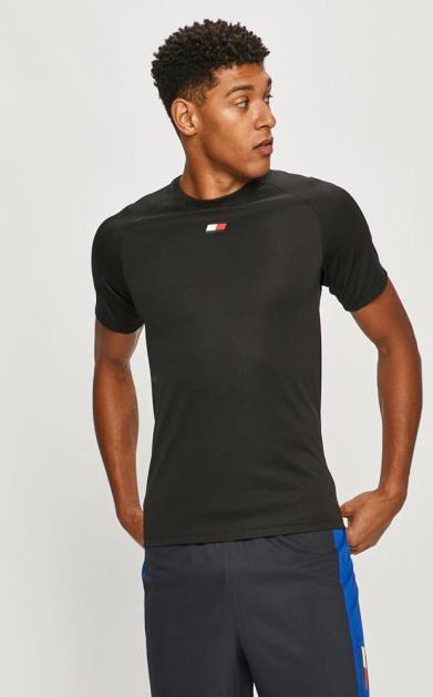 Černé tričko Tommy Sport