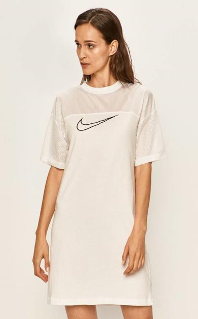 Bílé šaty Nike Sportswear