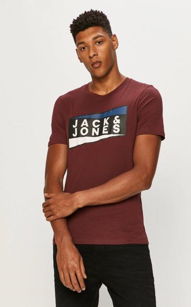 Fialové tričko jack & jones