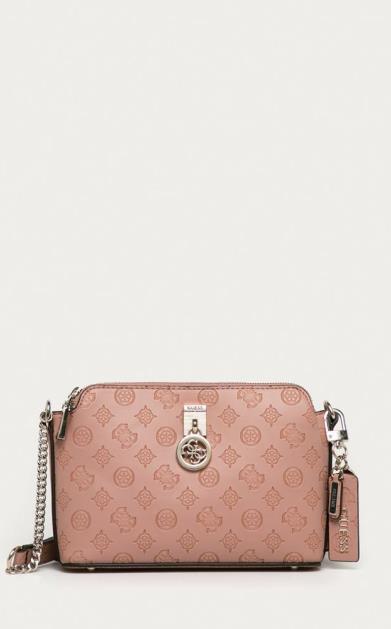 Růžová kabelka Guess