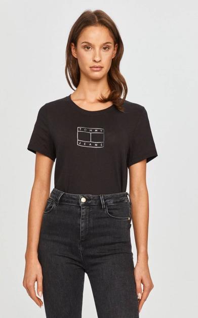 Černý top Tommy Jeans