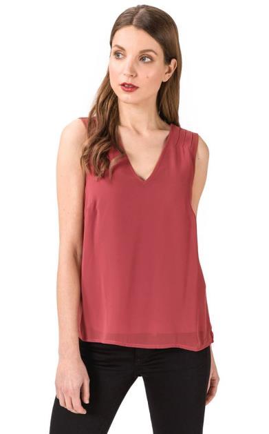Červený top vero moda