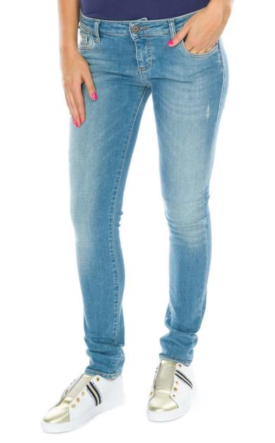 Modré kalhoty Trussardi Jeans