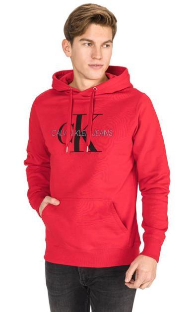 Červená mikina Calvin Klein