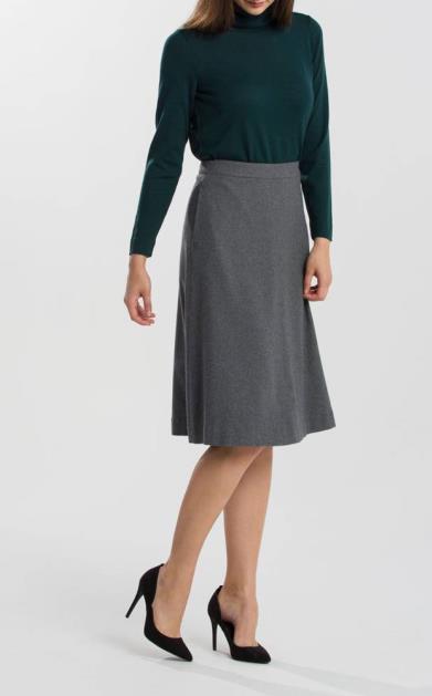 Šedá sukně gant
