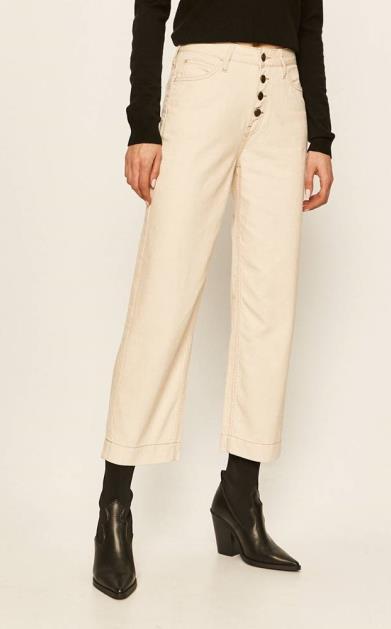 Béžové kalhoty lee