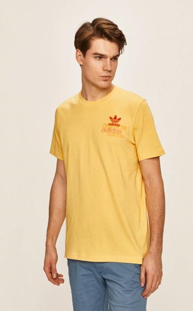 Žluté tričko adidas originals