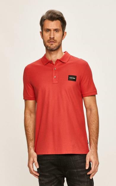 Červené tričko Calvin Klein