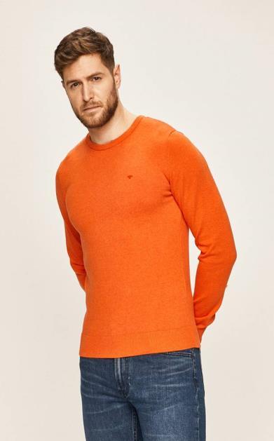 Oranžový svetr tom tailor denim
