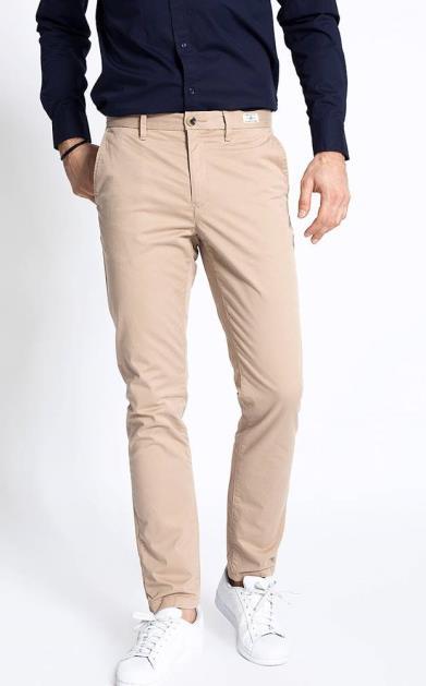 Béžové kalhoty tommy hilfiger