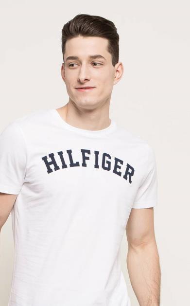 Bílé tričko tommy hilfiger