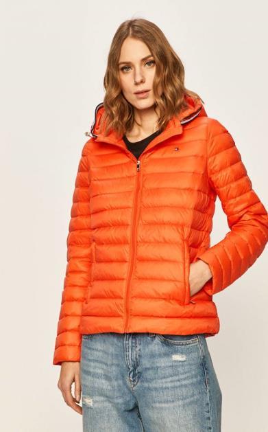 Oranžová bunda tommy hilfiger