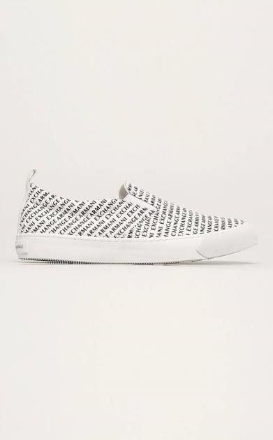 Bílé boty Armani Exchange