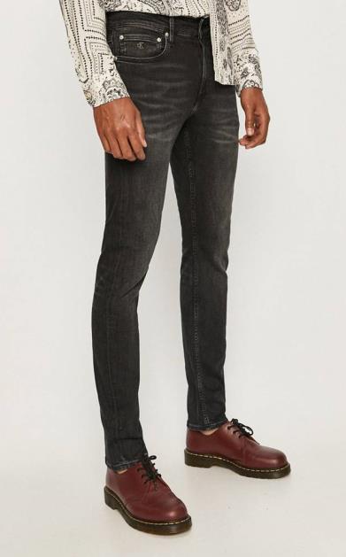 Šedé kalhoty calvin klein jeans