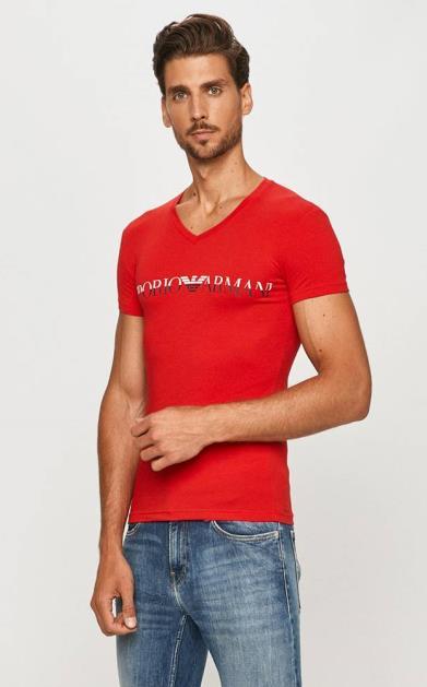 Červené tričko Emporio Armani