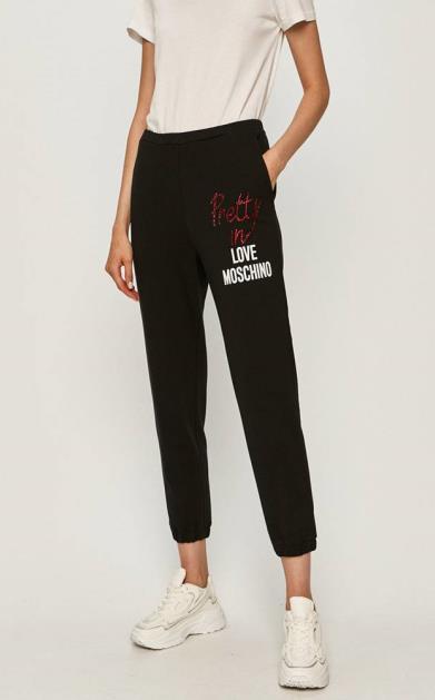 Černé kalhoty Love Moschino