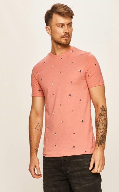 Růžové tričko only & sons