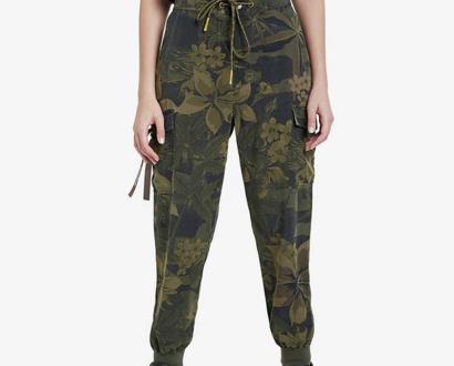 Zelené kalhoty desigual