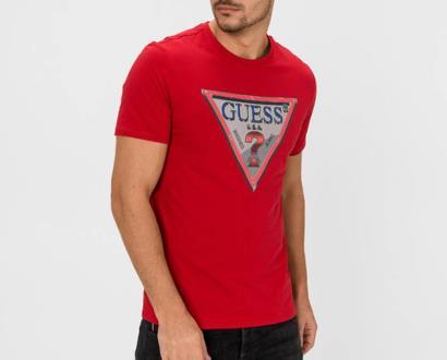 Červené tričko Guess