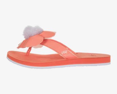 Červené pantofle ugg