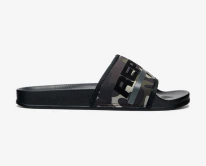 Černé pantofle Replay