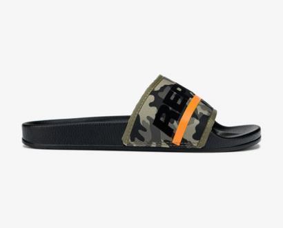 Zelené pantofle Replay