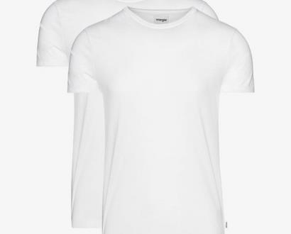 Bílé tričko wrangler