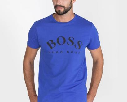 Modré tričko BOSS