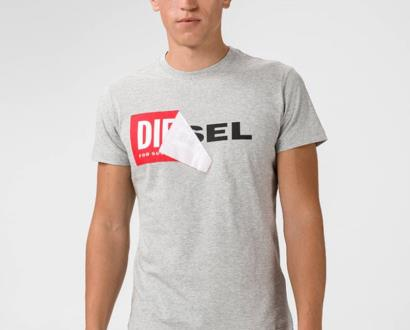 Šedé tričko Diesel
