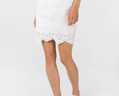 Bílá sukně vero moda