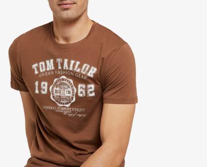 Hnědé tričko tom tailor