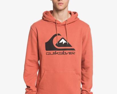Oranžová mikina quiksilver