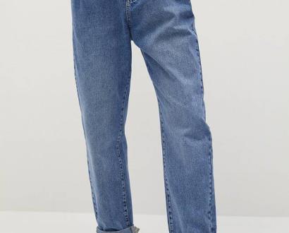 Modré kalhoty Mango