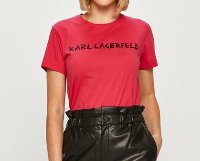 Růžový top karl lagerfeld