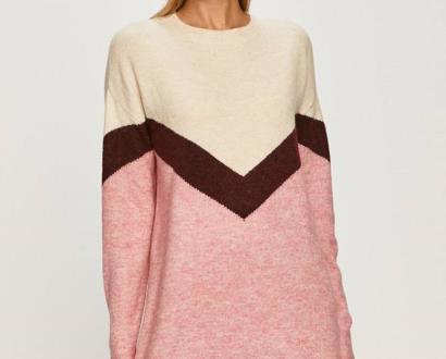 Růžové šaty vero moda