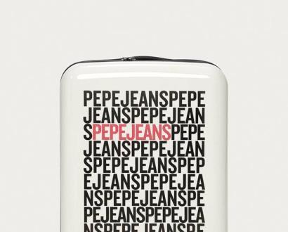 Bílý kufr pepe jeans