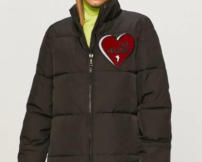 Černá bunda Love Moschino